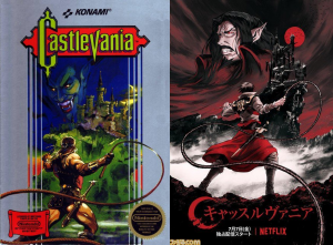 Netflix Castlevania throwback art