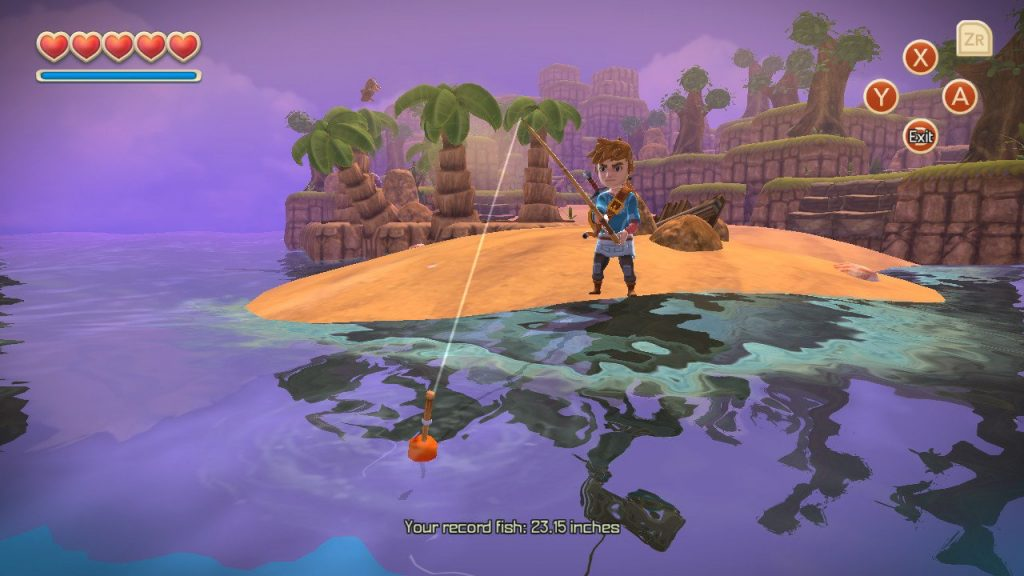 Fishing in Oceanhorn: Monster of Uncharted Seas.