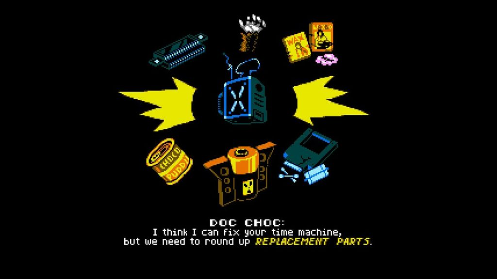 Doc Choc needs you to find these parts if he's ever gonna fix your time-traveling phone booth!