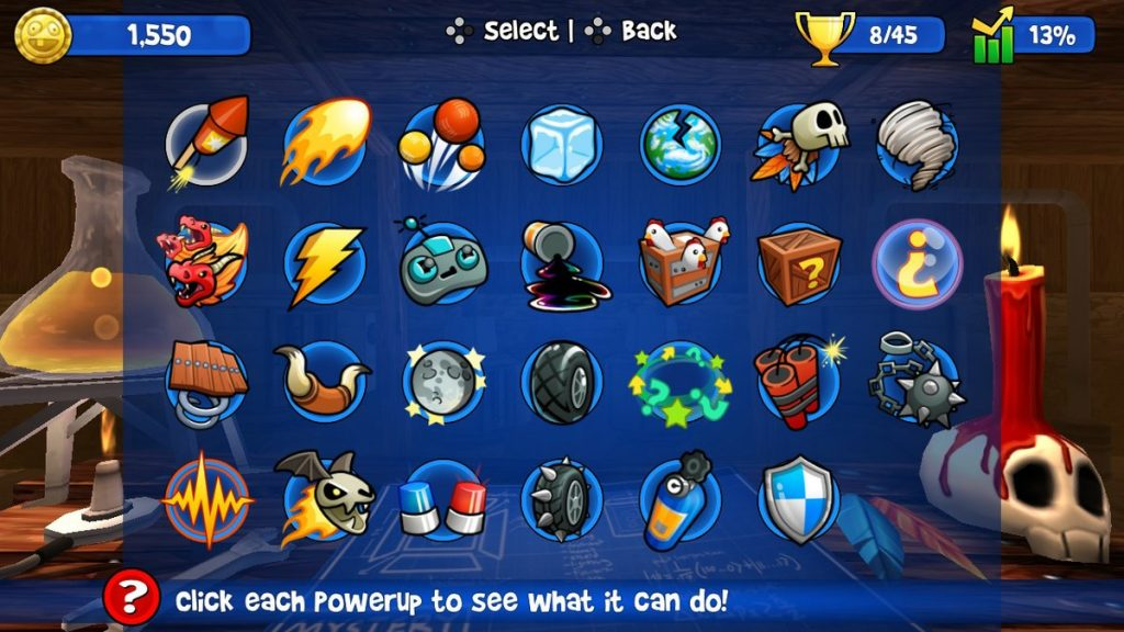 Here are the available power-ups in Beach Buggy Racing.