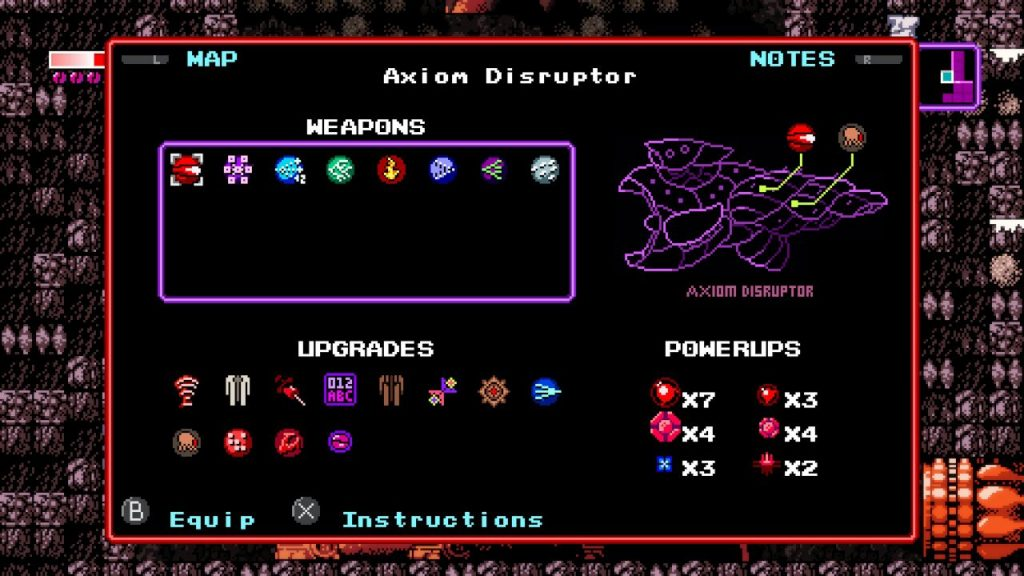Axiom Verge hits that retro look and feel in every aspect of gameplay!