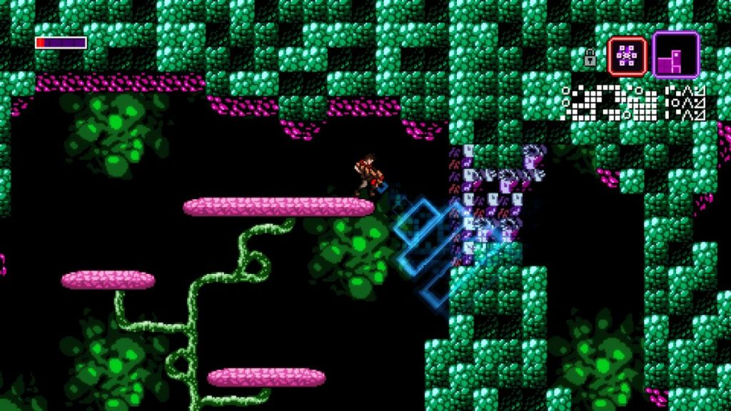 Axiom Verge also features a Disruptor which can alter surroundings and enemies!