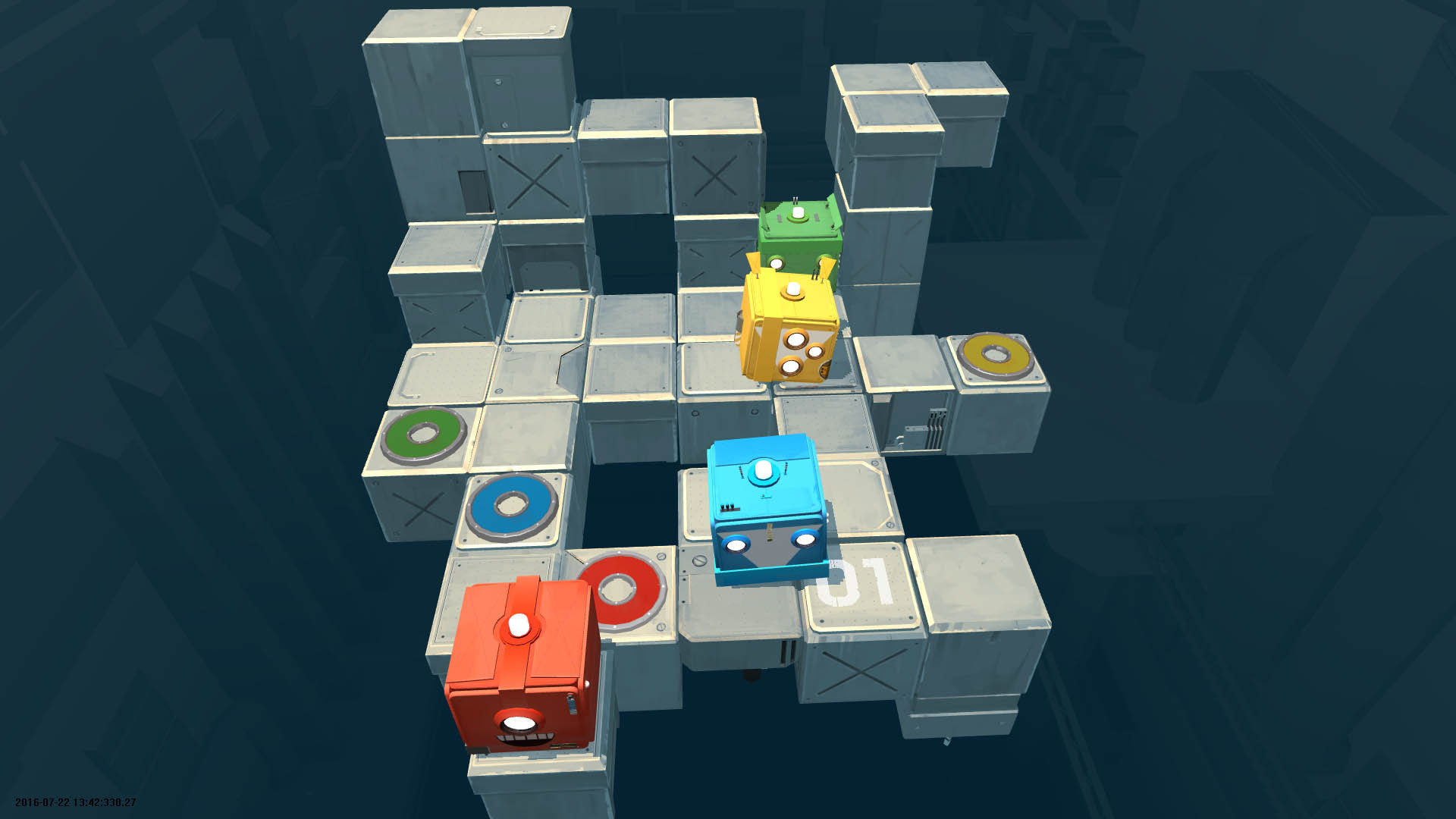 Death Squared 4 Player 1