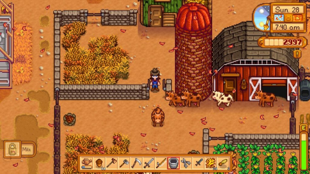 We like taking care of animals in Stardew Valley. You can also build machines that convert animal products into items like mayonnaise, cheese, and more!