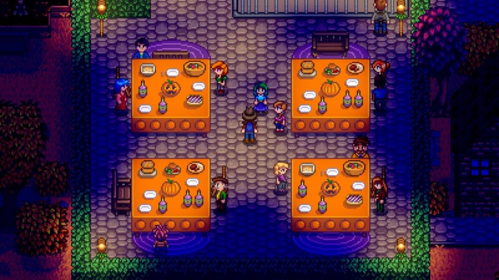 One of the annual festivals in Stardew Valley. This one's a spooky fall festival!