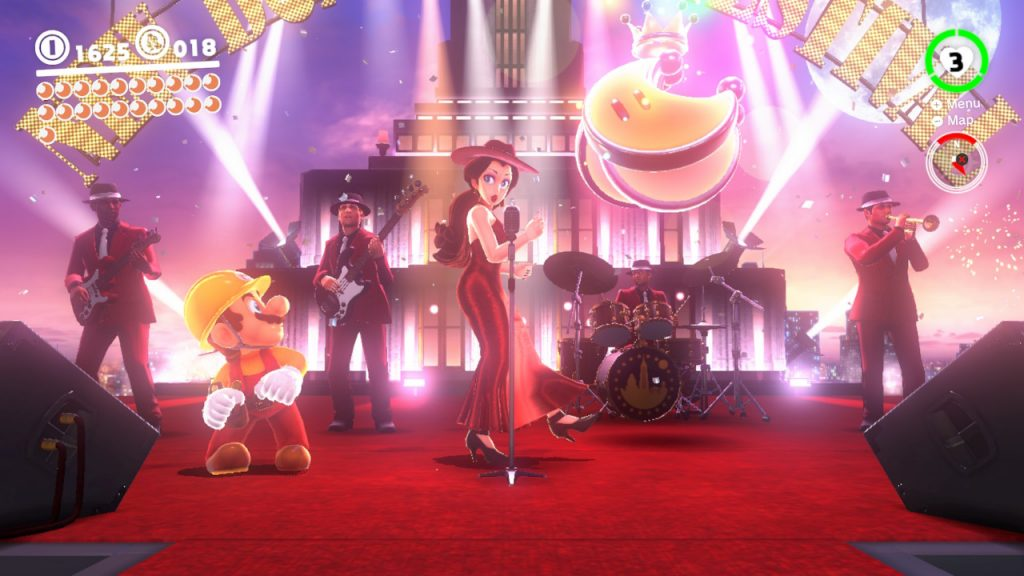 A musical highlight is the New Donk City Festival, which features a song with vocals and lyrics, a first for a Mario Game.