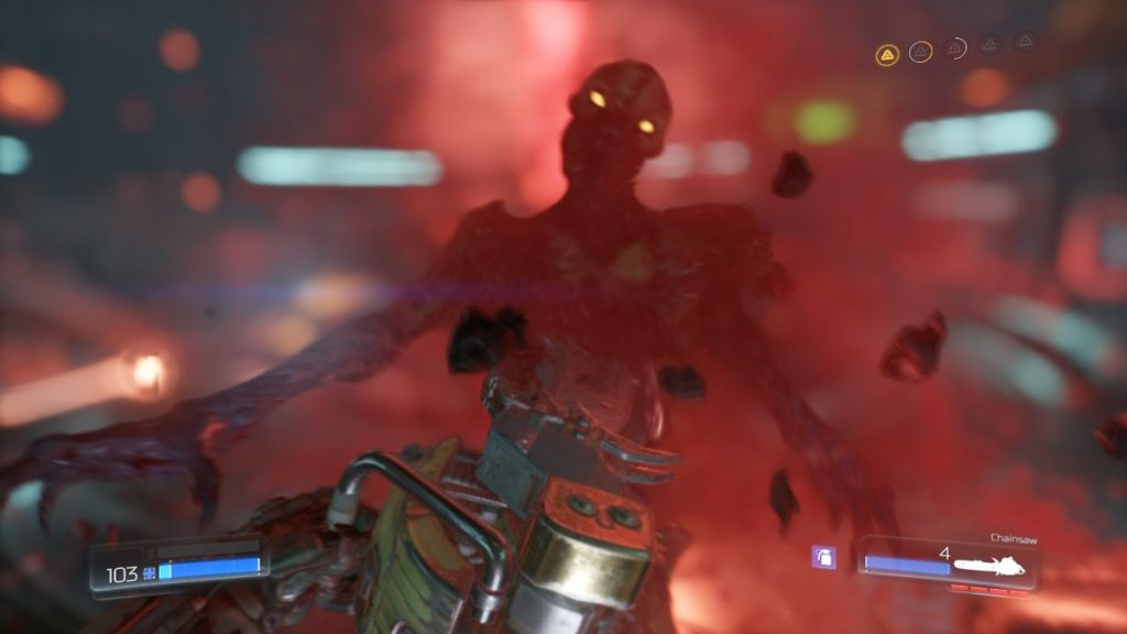 Here's a peek at one of the many weapons you'll find in DOOM.