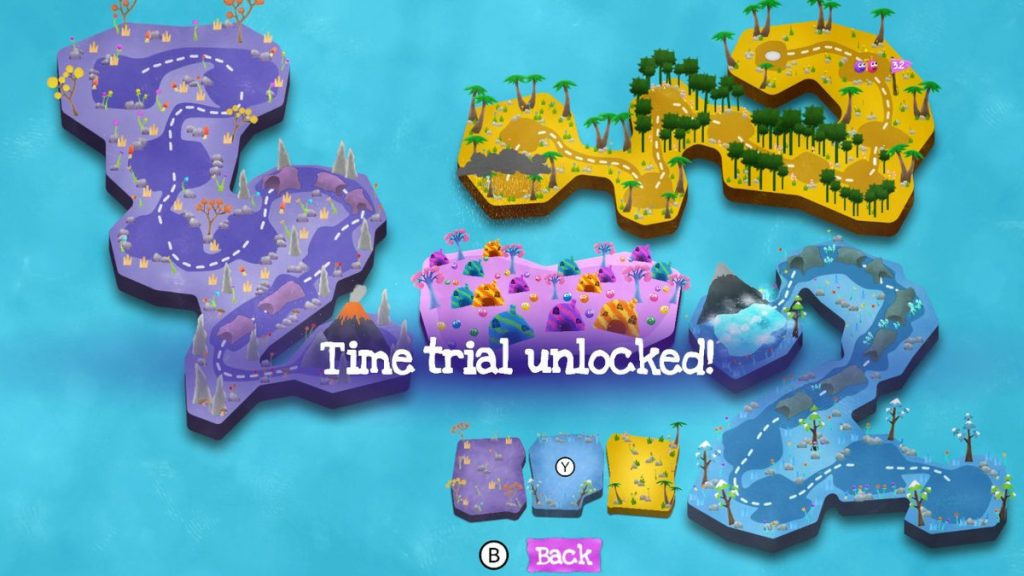 Putty Pals features a variety of worlds and plenty of content, including Time Trial!
