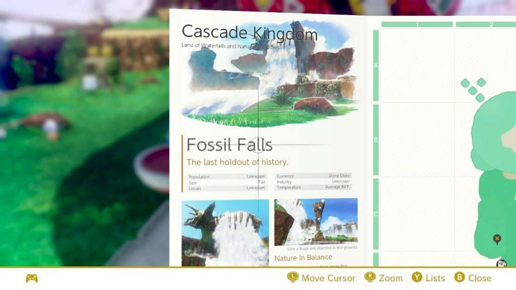 In addition to Assist Mode, there's another feature that helps you out in SMO: in each kingdom, you'll have access to a brochure with a map of the kingdom and other helpful information!