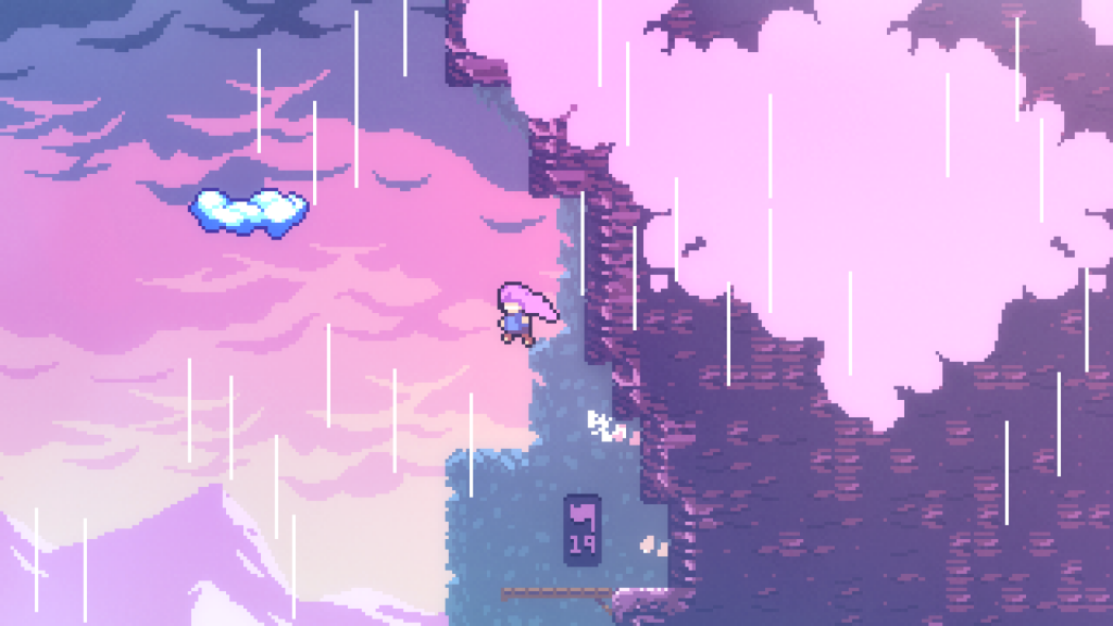 Celeste is generally a difficult platformer outside of Assist Mode, but it has its soothing moments.