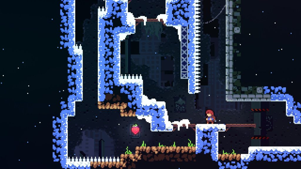 Celeste is a puzzling platformer that's pretty tough (without Assist Mode).
