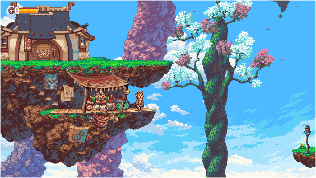 Exploring is both relaxing and exciting since you can feast your eyes and ears upon Owlboy's graphics and sound!