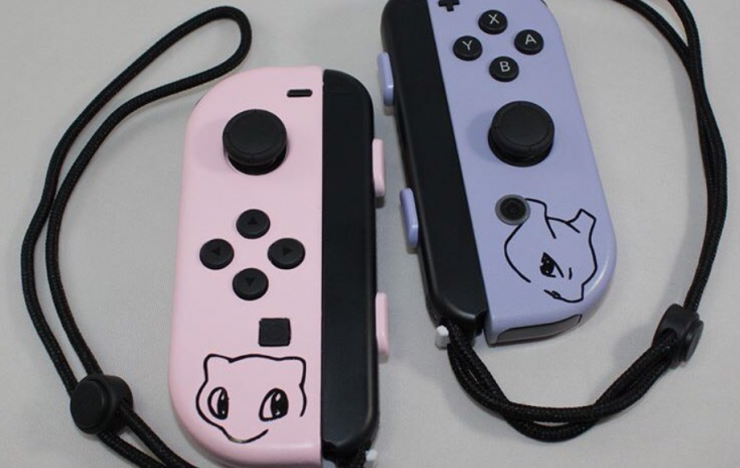 Custom Mew and Mewtwo Joy-Con