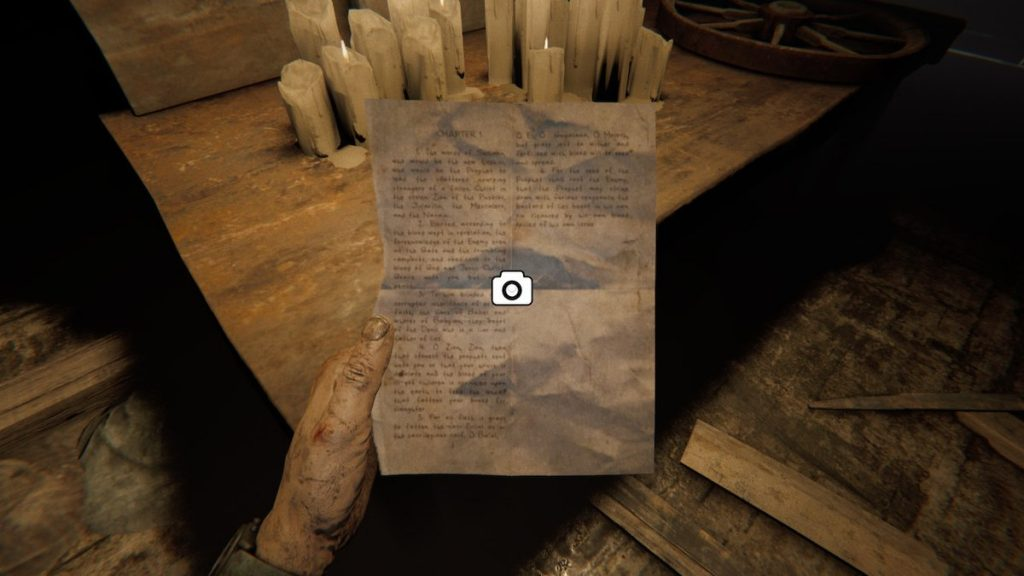 As in Outlast, you'll be picking up documents like a good investigative journalist.