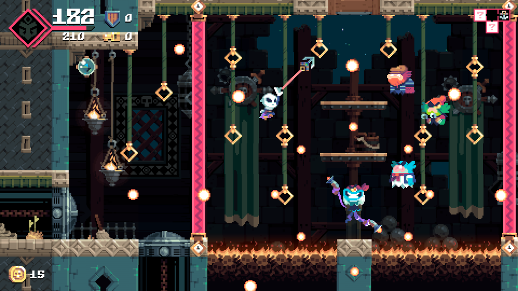 We're in love with the retro-style graphics in Flinthook, especially paired with its chiptune soundtrack