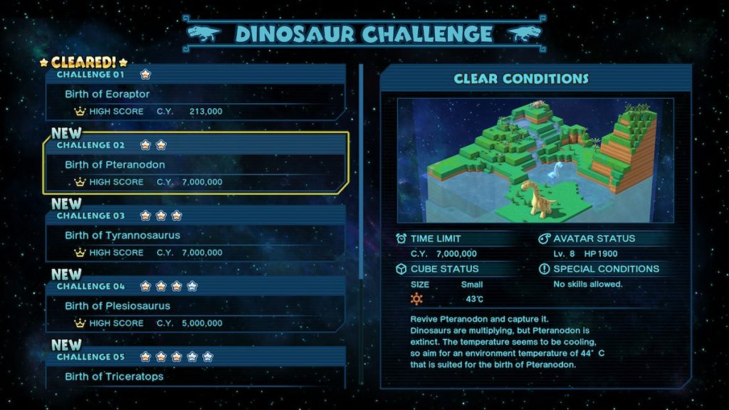 The Dinosaur Challenge offers a fun alternative to regular play.