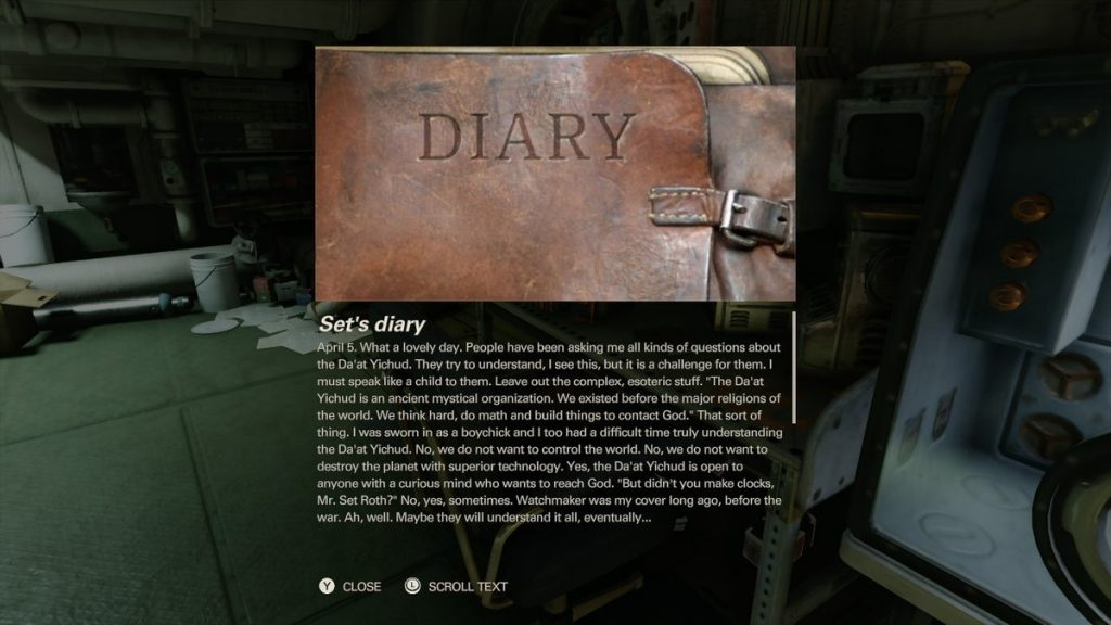 Collectible items give insight into the game's deeper story.