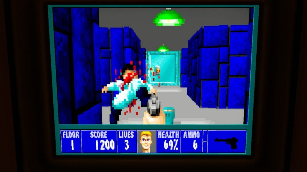 BONUS: You can play the original Wolfenstein in the hub world on your submarine!
