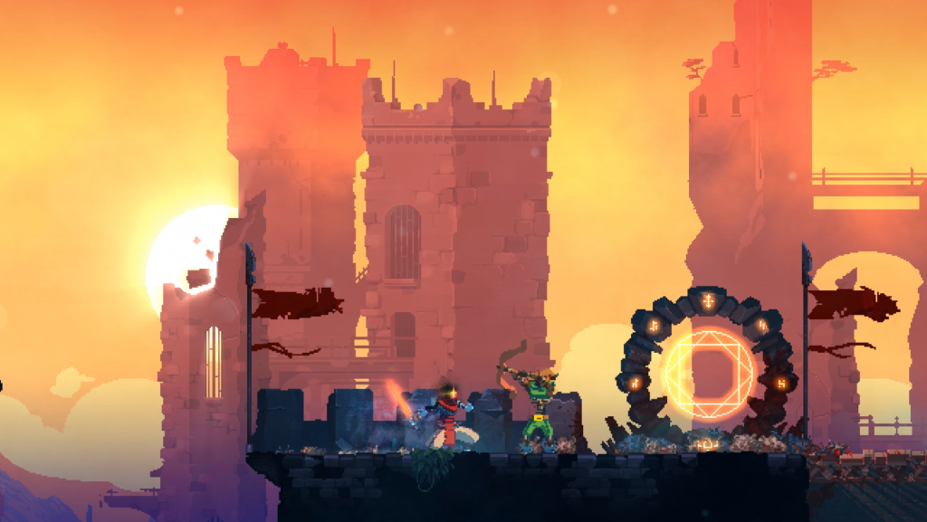 "Dead Cells markets itself as a ""roguevania,"" featuring elements of roguelites and metroidvanias."