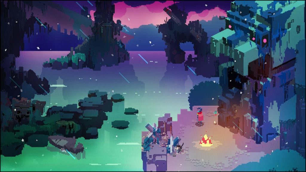 Hyper Light Drifter is a 2D action role-playing game inspired by Diablo, The Legend of Zelda: A Link to the Past, and the developer's own illness.