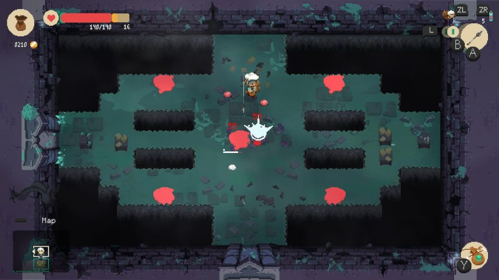 Dungeons are divided into rooms and floors, with plenty of enemies to beat and loot to collect.