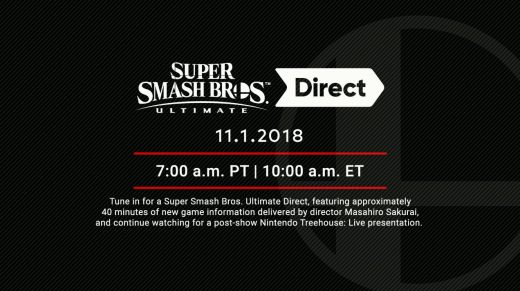 November 1 Smash Bros. Direct
