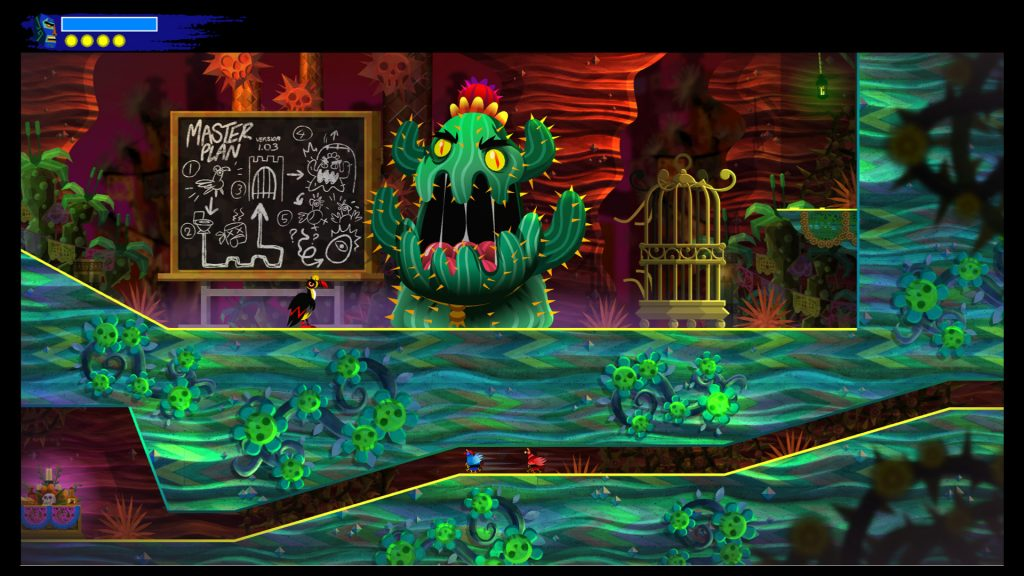 As with Guacamelee!, the game's difficulty steepens as you progress.