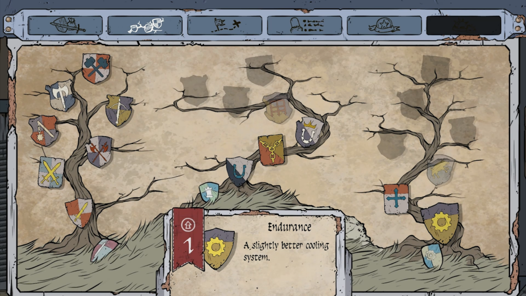 This is the skill tree that allows for upgrades using skill points.