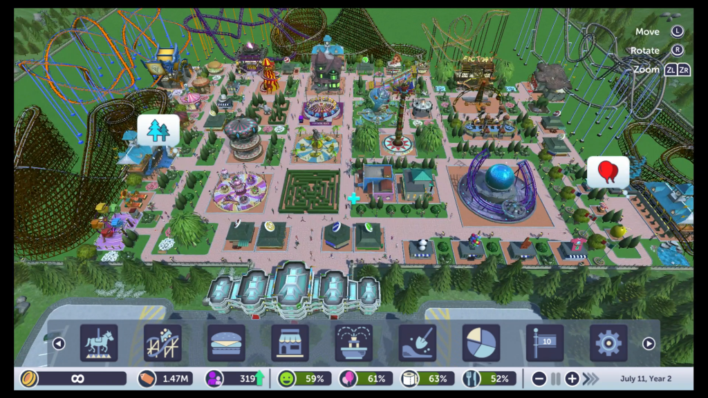 This isn't that big of a park, but we experienced significant frame rate issues with it in handheld mode.