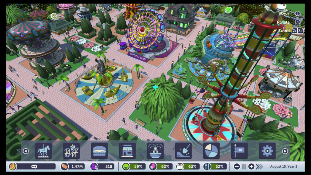 Build the park of your dreams in RollerCoaster Tycoon Adventures!