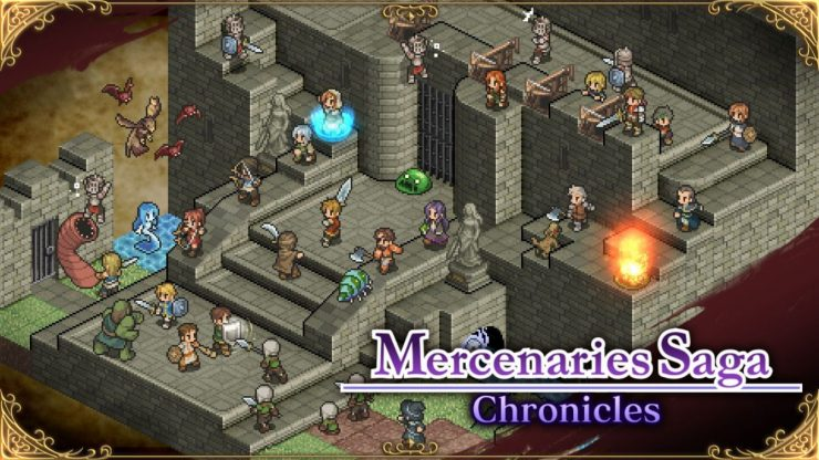 Mercenaries Saga Chronicles Title Screen
