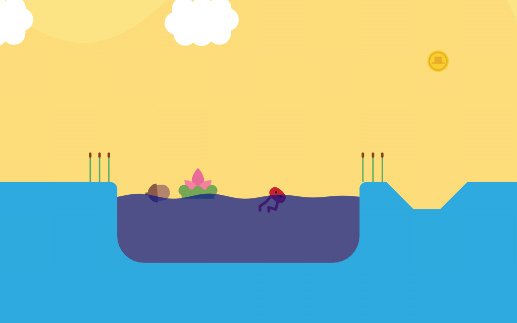 Environments feature bright colors, smooth shapes, and forgiving pathways.
