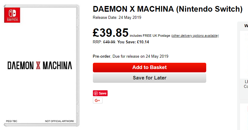 DAEMON X MACHINA Release Date