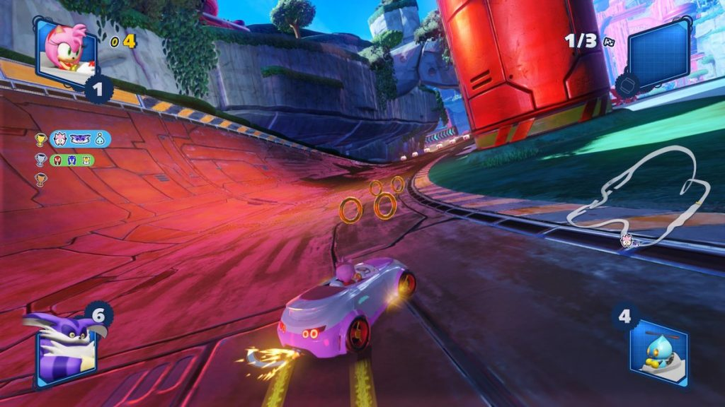 Team Sonic Racing looks great on Switch and runs smoothly in handheld and docked.