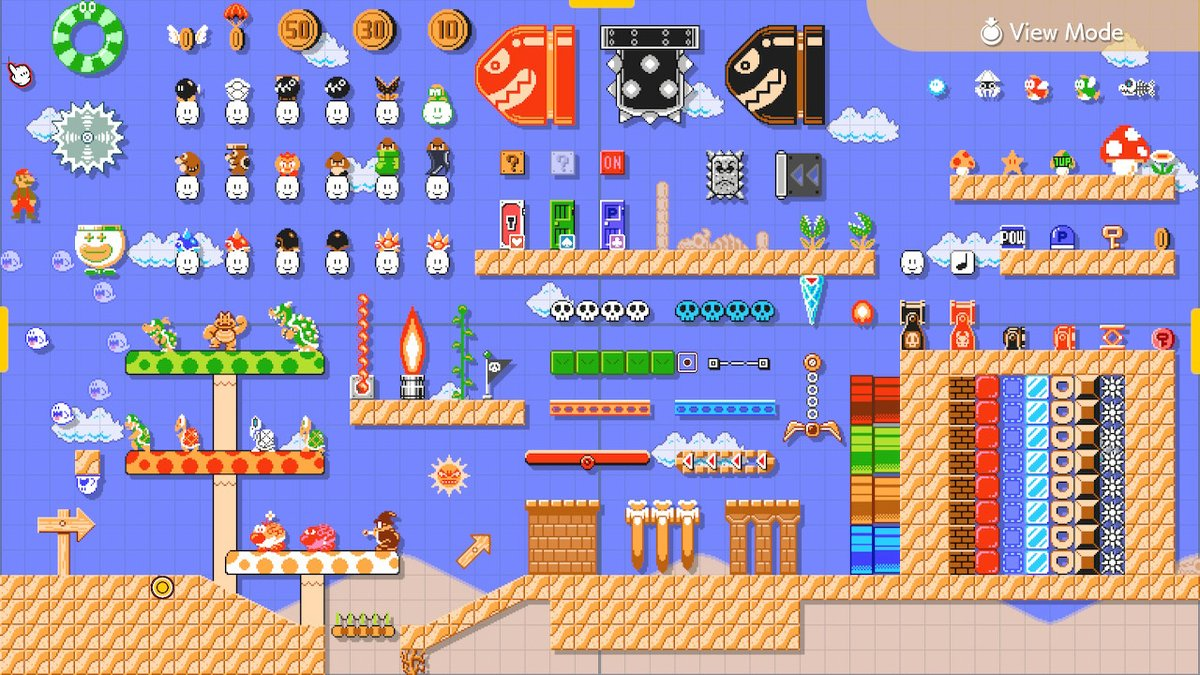 The Staggering Visual Variety of Super Mario Maker 2