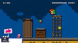 Goombas behave as though underwater, and there's a thunderstorm a-brewin'!