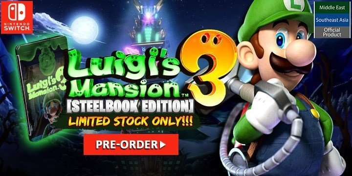 Luigi's Mansion 3 pre-order steelbook play-asia