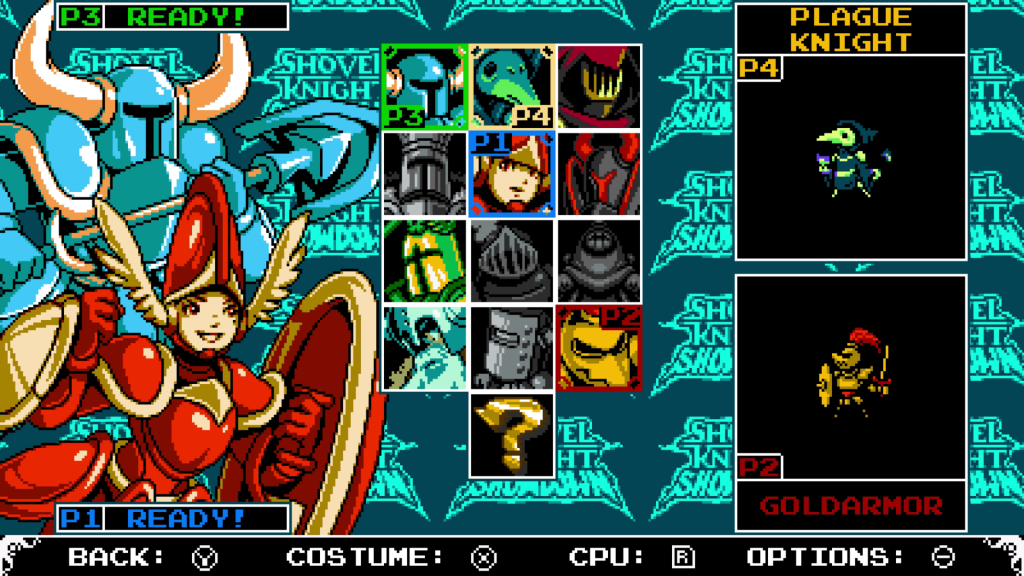 Playable characters are taken from the Shovel Knight universe, and many of them are now playable for the first time ever!